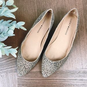 Lucky Brand Pointed Cheetah Print Flats